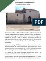 Recibos-documentos de arrendamiento del Molino de San Antón