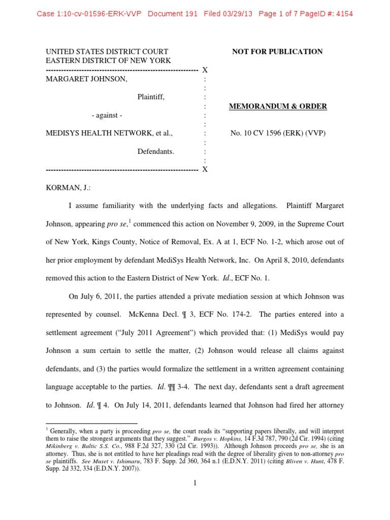 U S  v  Douglas Singer   Settlement (Litigation)   Pro Se