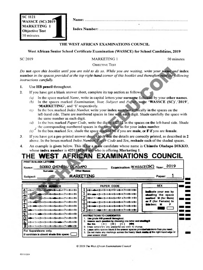 WAEC Marketing Past Questions and Answers PDF Free Download | Retail