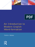 An Introduction to English Word-Formation