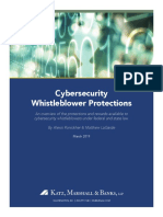 Cybersecurity Whistleblower Protection Guide