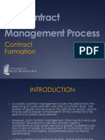 The Contract Management Process Contract Formation
