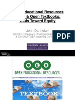 Open Educational Resources (OER) and Open Textbooks