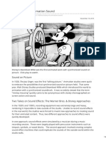 The History of Animation Sound