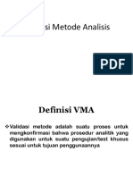 Validasi Metode Analisis