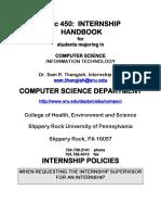 Handbook for Interns