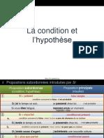 Condition Et Hypothese