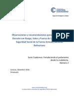 1.4 Informe Sobre La Ley Organica de Seg Social de La FANB(1)