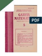 GAZETA MATEMATICA Seria B N0 5/1987