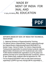 Efforts Made by Government of India for Vocational