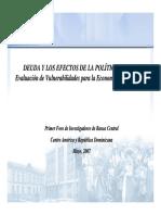 Deudra y Los Efectos de La Política Fiscl