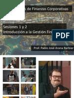 Sesiones 1 y 2 - Introducción a La Gestión Financiera