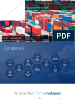 Containers - The secret to shipping cloud workloads