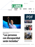 """""""Las personas con discapacidad serán incluidas"""" - Metro Libre"""