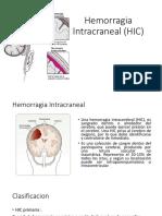 Hemorragia Intracraneal (HIC)