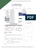 Resolução Comentada Dos Exercícios de Vestibulares Sobre Resistor Equivalente _ Física e Vestibular