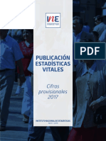 Estadísticas Vitales Cifras Provisionales 2017