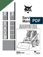 BOBCAT 543B SKID STEER LOADER Service Repair Manual SN 511111001 & Above.pdf
