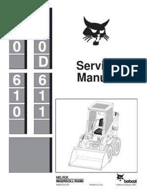BOBCAT 600 SKID STEER LOADER Service Repair Manual pdf