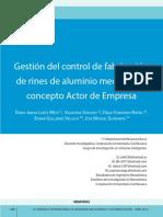 Gestión del control de fabricación de rines de aluminio mediante el concepto Actor de Empresa.