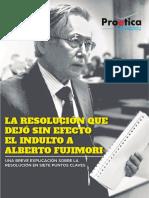 LA RESOLUCIÓN QUE DEJÓ SIN EFECTO EL INDULTO A ALBERTO FUJIMORI.