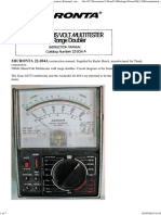 Micronta 22-204A Range Doubler Multimeter Instructions