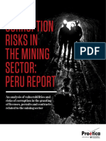 Corruption risk in the mining sector