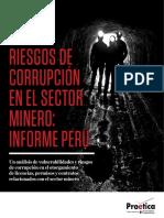 Riesgo de corrupción en el sector minero
