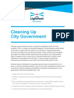 "Lightfoot ""Cleaning Up City Government"" Policy"