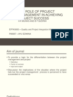 The Role of Project Management in Achieving Project