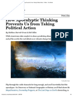 How Apocalyptic Thinking Prevents Us