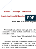 ICM, CURS 1 Cultura, Civilizatie, Mentalitate (1)
