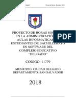 Proyecto Horas Sociales 2018
