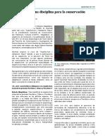 Proyect y Activ. Arquitectura Una Disciplinapara La Conservacion