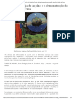 Aristóteles, Tomás de Aquino e a Demonstração Da Esfericidade Da Terra