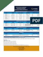 Lista de Precios Agregados CP. Bello OCT 16.2018 Clientes