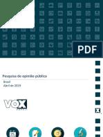 CUT-VOX – Popularidade de Bolsonaro despenca em 3 meses