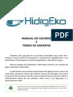 Hidro2eko Manual Do Usuario e Termo de Garantia 2019