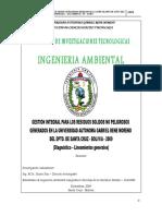 Gestion Integral Para Los Residuos Solidos No Peligrosos Uagrm 2009(1)