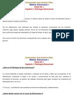 Estructuras I  Patología Estructural.