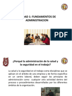 Fundamentos de administracion en salud ocupacional