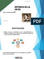 Evolucion Historica de La Investigacion en Enfermería