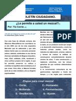 BOLETÍN CIUDADANO    Ene - Mar 2019 Mezcal