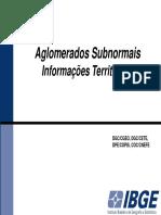 Aglomerados Subnormais IBGE 2010