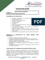 Plan de evaluación 2015