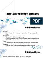 The Laboratory Budget