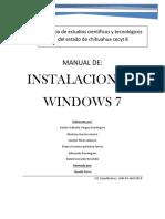 Manual de Instalación de Windows