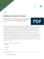 AdaBoost Classifier in Python (Article) - DataCamp