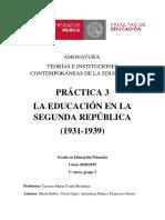 La Educación en la II República