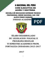 Silabu DE LEGISLACIO POLICIAL. II   FF.CC.docx